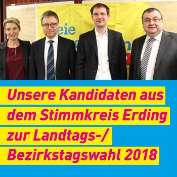 FDP Erding Kandidaten aus Stimmkreis Erding Plakat