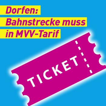 FDP Banner Bahnstrecke muss in MVV Tarif Plakat