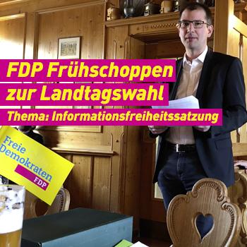 FDP Erding Banner Plakat Frühschoppen zur Landtagswahl Archiv