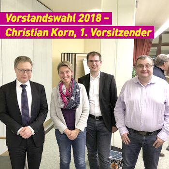 FDP Erding Vorstandswahl 2018 Christian Korn 1. Vorsitzender Plakat