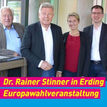 FDP Erding Dr. Rainer Stinner in Erding Europawahlveranstaltung