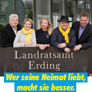 FDP Erding Rochus Heller Rosmarie Neumeier Anne Connelly Josef Samitz Wolfgang Stang Landratsamt Erding Team Wer seine Heimat liebt macht sie besser
